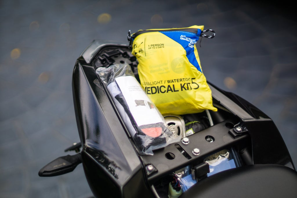 What should be in a motorcycle first aid kit